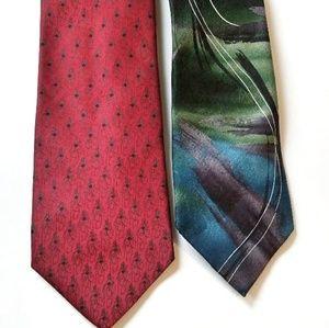 J. GARCIA Silk Artwork Ties